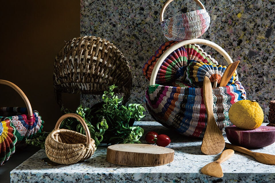 Lithuanian hand made baskets